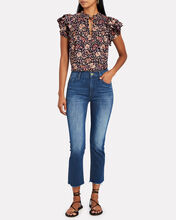 The Dazzler Crop Fray Jeans, DENIM-DRK, hi-res