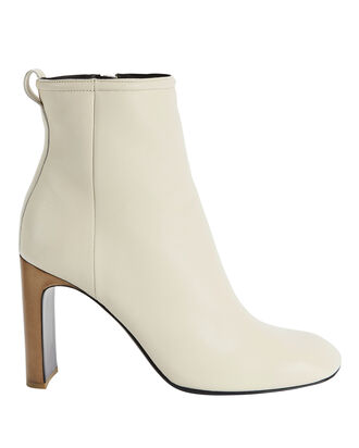 White High Heel Booties