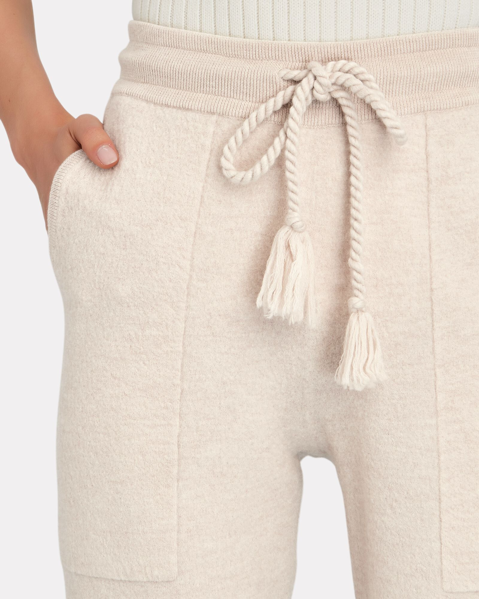 Alfie Boiled Knit Wool Joggers, IVORY, hi-res