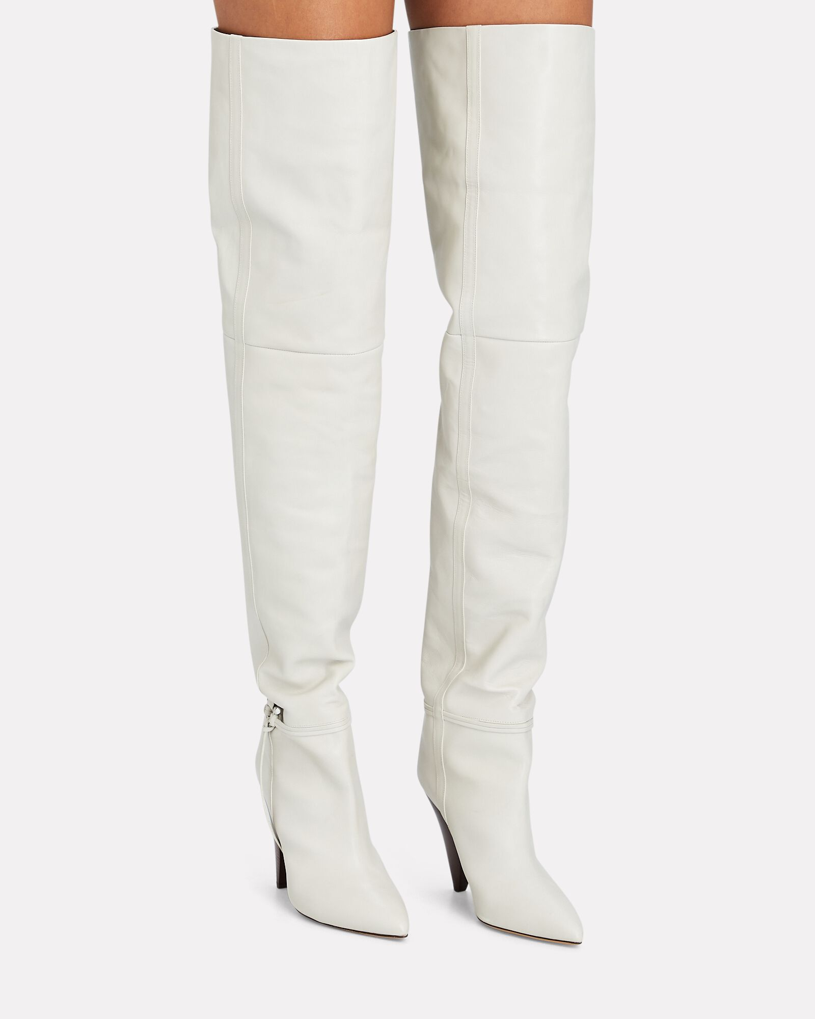 Lage Leather Over-the-Knee Boots, WHITE, hi-res