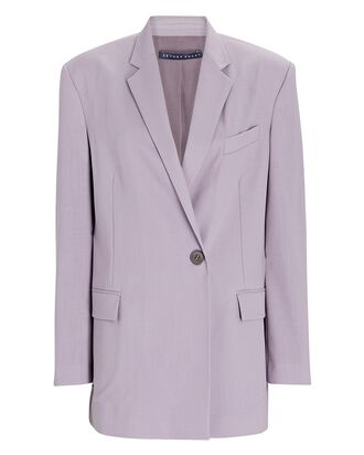 Oversized Gem Wool Blazer, LILAC, hi-res