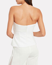 Charmeuse Panel Bustier Top, WHITE, hi-res