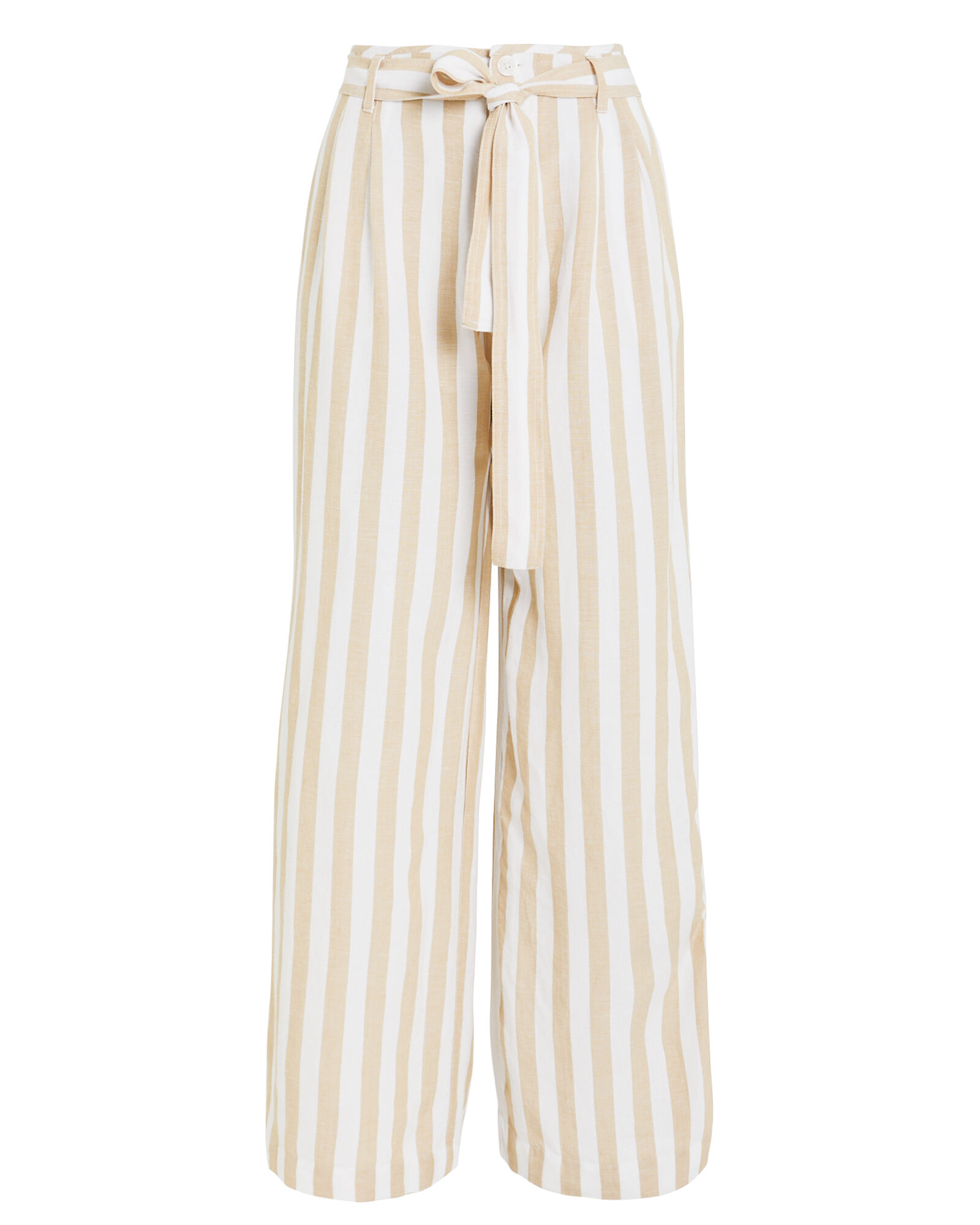 Jess Striped Wide Leg Trousers, BEIGE, hi-res