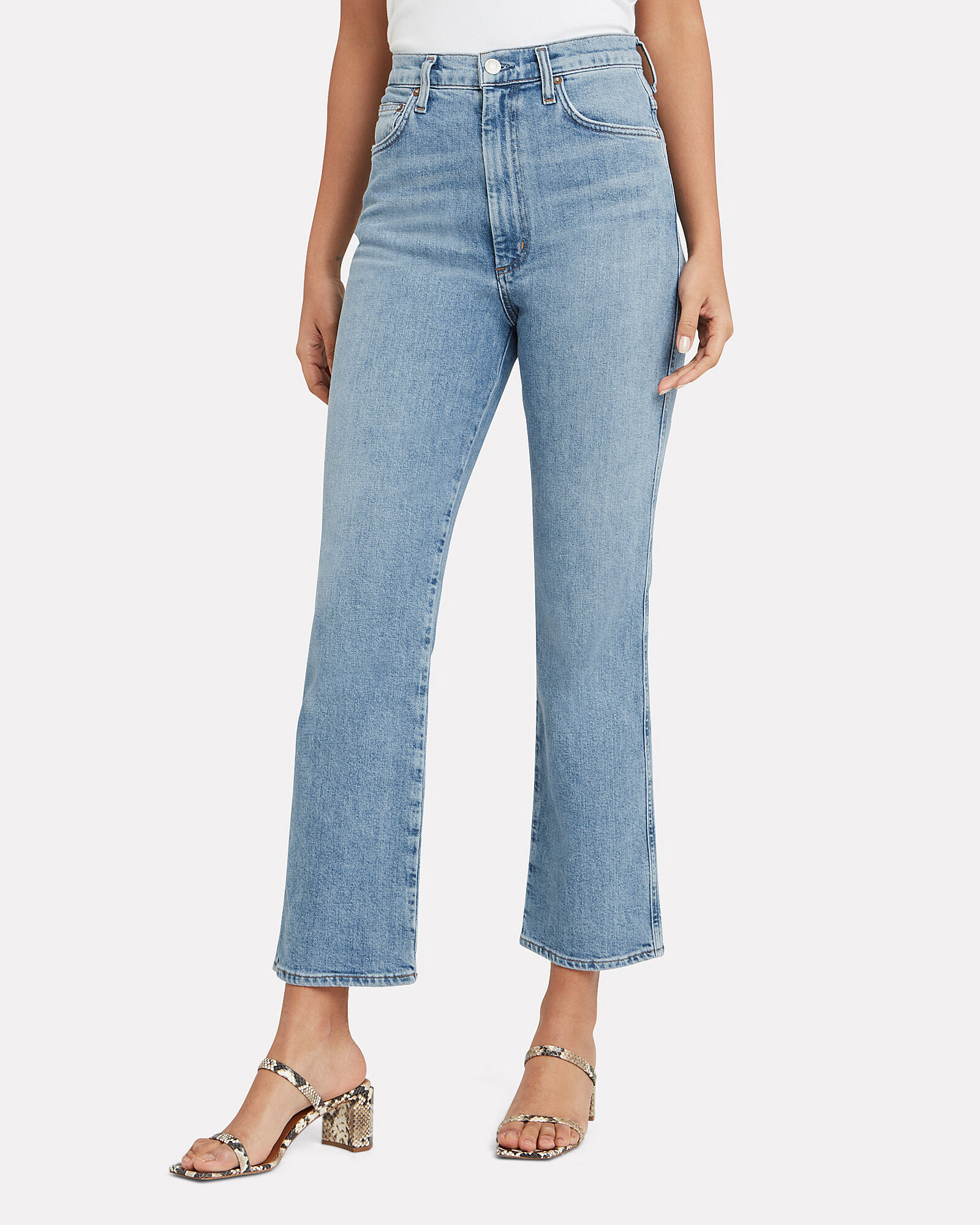 Pinch Waist Kick Jeans, DENIM, hi-res