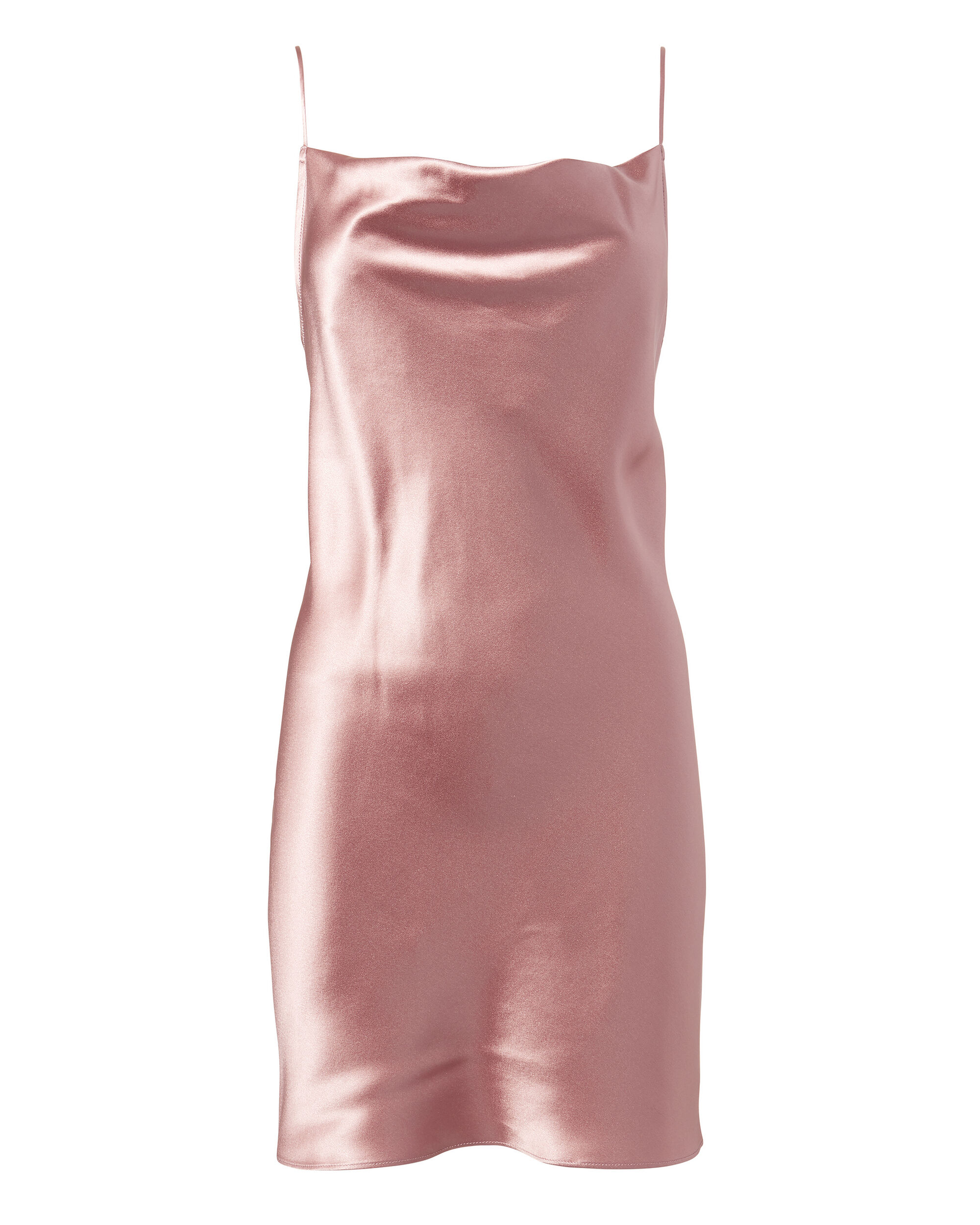 Cowl Neck Slip Dress, ROSE, hi-res