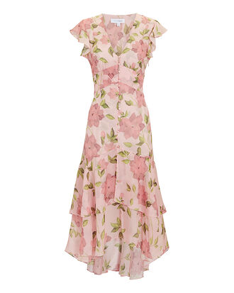 Abella Floral Dress, PINK, hi-res
