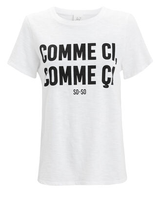 Comme Ci Comme Ca Tee, WHITE, hi-res