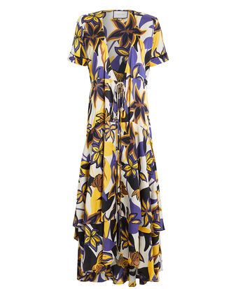 Sotella Tahitian Floral Wrap Dress, MULTI, hi-res