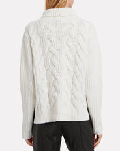 Lambswool Cable Knit Sweater, IVORY, hi-res