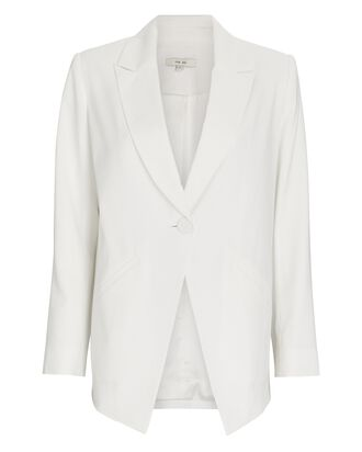 Viscose Suiting Blazer, IVORY, hi-res