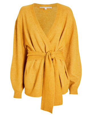 Estella Wool-Blend Cardigan, MARIGOLD, hi-res