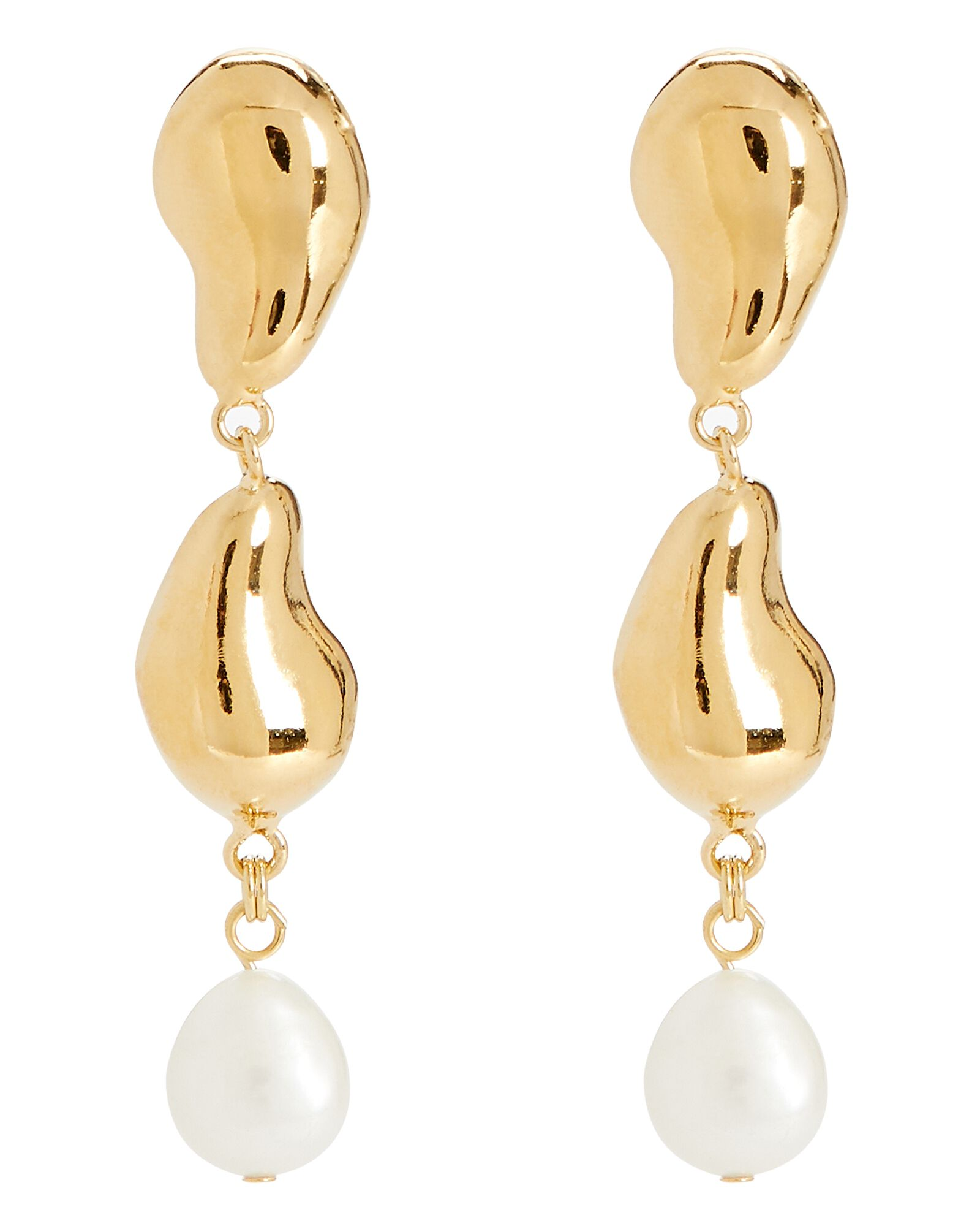 Oceanus Mismatched Earrings, GOLD, hi-res