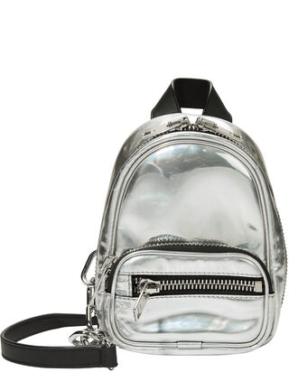 Attica Silver Backpack Bag, SILVER, hi-res