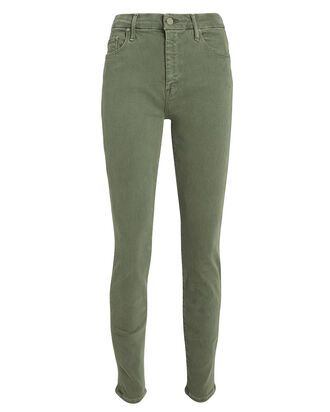 The Looker High-Waist Skinny Jeans, ARMY GREEN, hi-res