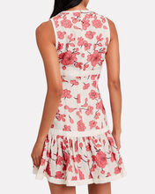 Lilou Linen Dress, WHITE/RED FLORAL, hi-res