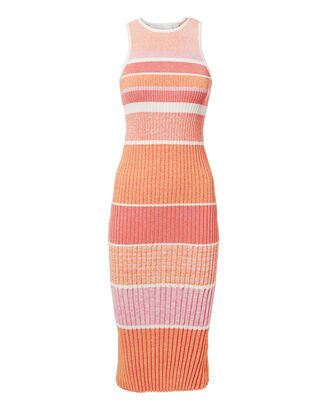 Tank Pink Stripe Knit Dress, PINK, hi-res