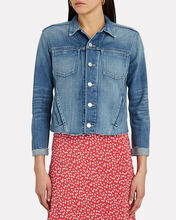 Janelle Cropped Denim Jacket, MEDIUM WASH DENIM, hi-res