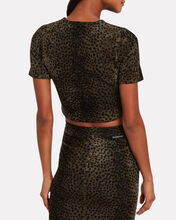 Leopard Chenille Cropped Top, MULTI, hi-res