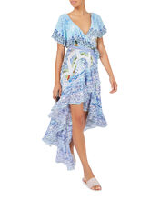 A Night To Remember Frill Wrap Dress, PRI-ABSTRACT, hi-res