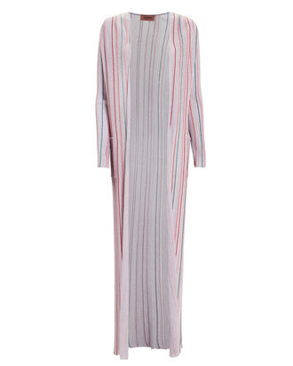 Lilac Lurex Striped Duster, LILAC/STRIPE, hi-res