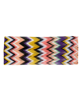 Zig Zag Headband, PURPLE/YELLOW/BLACK, hi-res