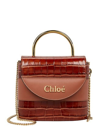 Small Aby Lock Bag, CHESTNUT, hi-res