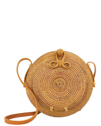 Ola Crossbody Bag, BROWN RAFFIA, hi-res