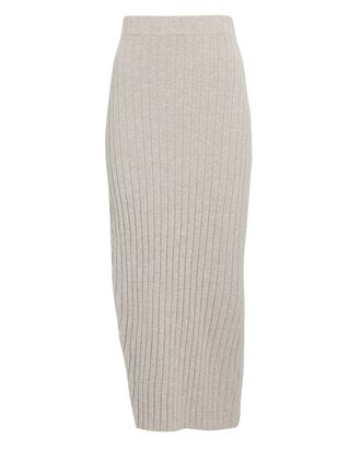 Irenna Rib Knit Midi Skirt, LIGHT GREY, hi-res