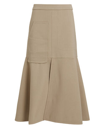 Bond Stretch Knit Skirt, BEIGE, hi-res