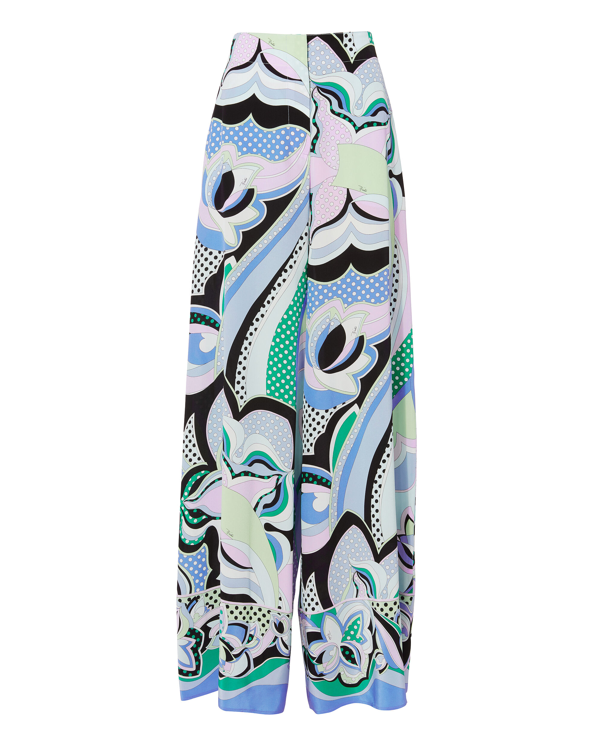 Fiordalsio Printed Wide Leg Trousers, BLUE-MED, hi-res