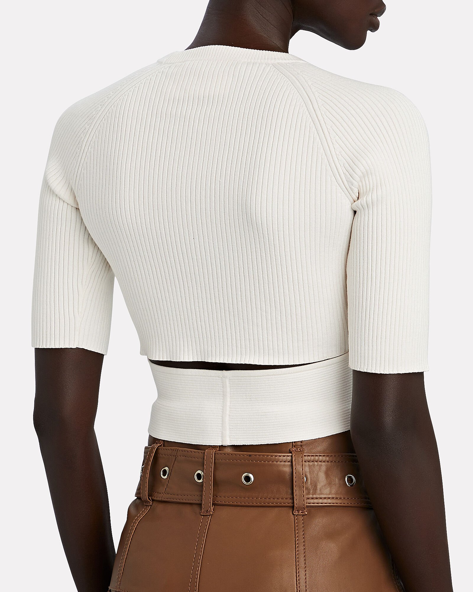 Lizzie Short Sleeve Knit Top, WHITE, hi-res