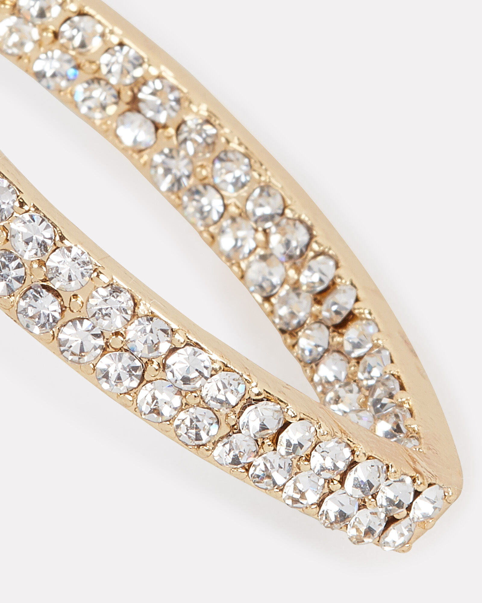 Marquise Pavé Crystal Hoops, CLEAR, hi-res