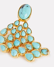 Turquoise Drop Earrings, GOLD/TURQUOISE, hi-res