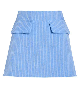 Short and Sweet Pinstripe Mini Skirt, BLUE/PLAID, hi-res