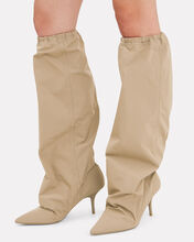 Cinched Top Track Style Boots, OLIVE/ARMY, hi-res