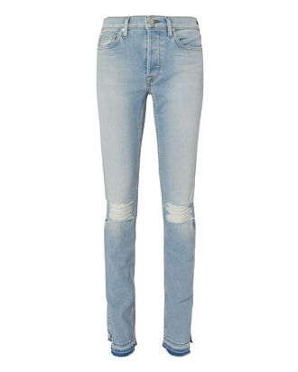High Split Vintage Jeans, LIGHT BLUE DENIM, hi-res