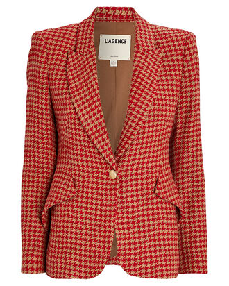 Chamberlain Houndstooth Blazer, RED/ORANGE, hi-res
