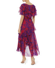 Valeria Ruffle Dress, RED, hi-res