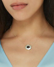 Danai Mother-of-Pearl Eye Necklace, GOLD, hi-res