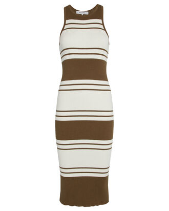 Striped Rib Knit Dress, MULTI, hi-res