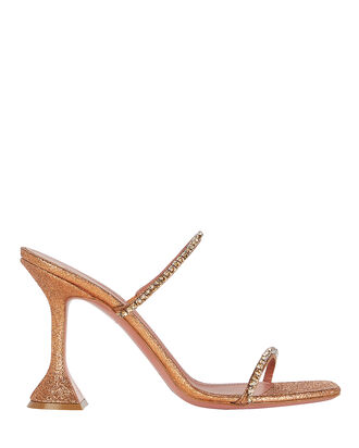 Gilda Glitter Slide Sandals, BRONZE, hi-res