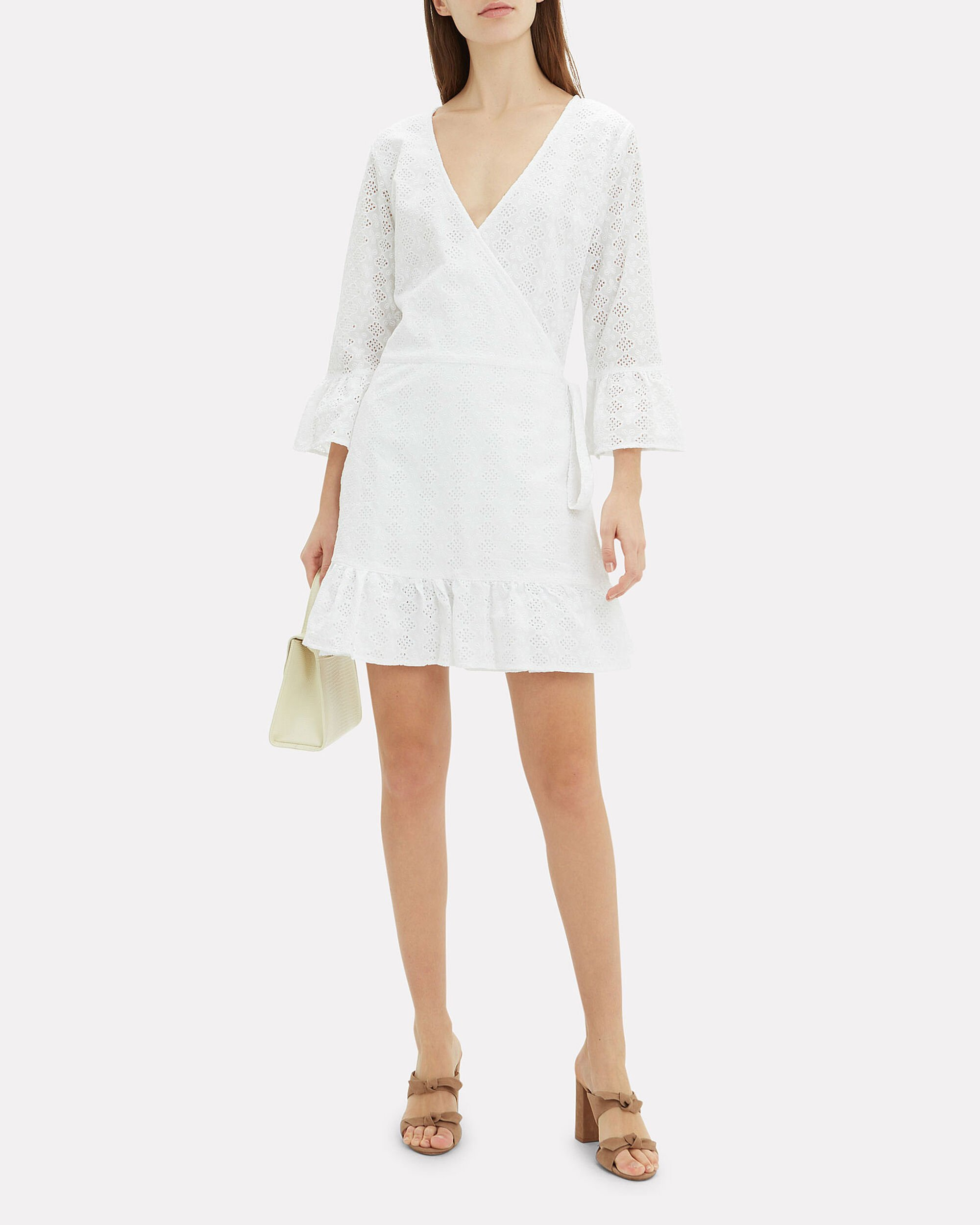 Vogue White Eyelet Coverup Dress, WHITE, hi-res