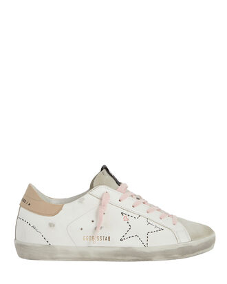 Superstar Perforated Low-Top Sneakers, WHITE, hi-res