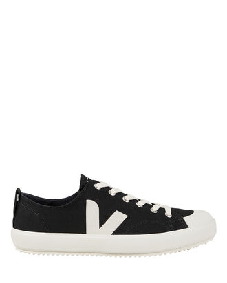 Nova Black Low-Top Sneakers, BLACK/WHITE, hi-res