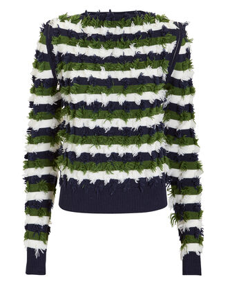 Zip Detail Striped Pullover, MULTI, hi-res