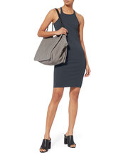 Rib Tank Jersey Dress, NAVY, hi-res