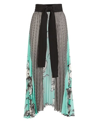 Blanche Pleated Skirt, BLUE/BLACK, hi-res