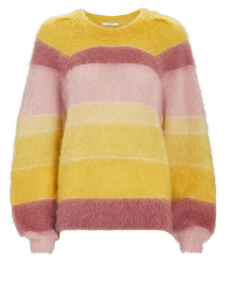 Daniel Striped Mohair-Blend Sweater, YELLOW/PINK, hi-res