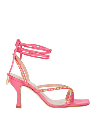 Hailey Crystal Sandals, PINK, hi-res