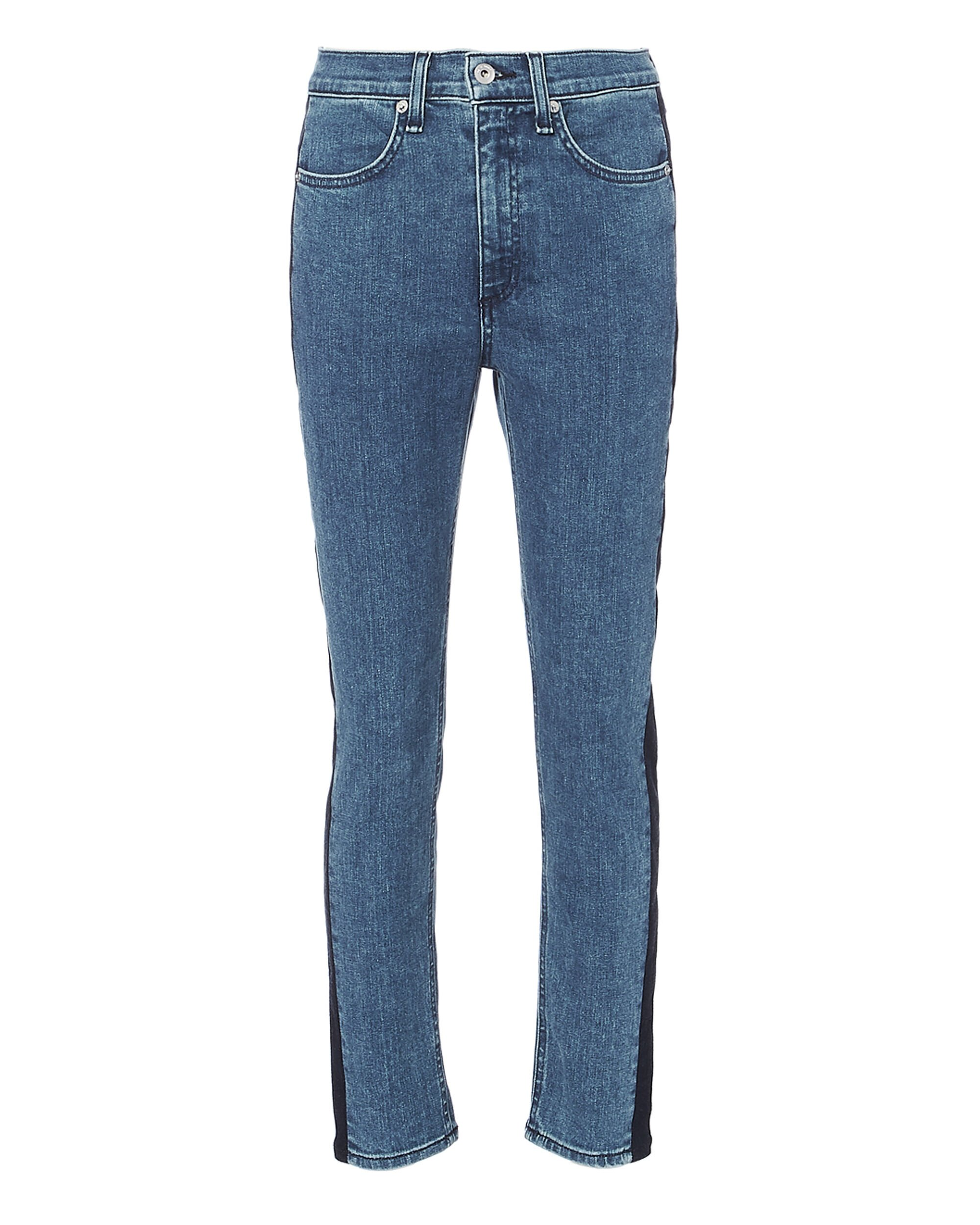 Mazie Two-Tone Skinny Jeans, MULTI, hi-res